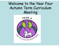 Y4 2016 Autumn presentation