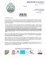 Y6 Spring 2017 Curriculum letter