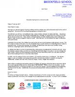 YR Curriculum letter spring 2017