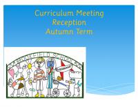 YR Curriculum Meeting Autumn 2016