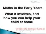 Early Years Maths presentation