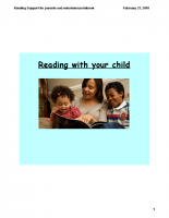 Reading Support for parents and volunteers