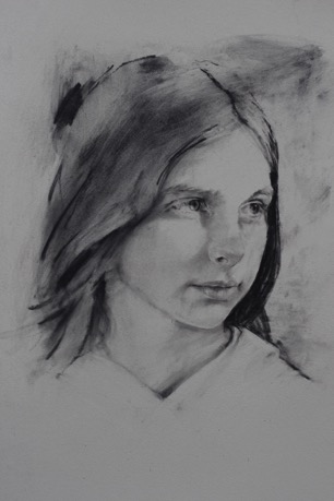 1 single charcoal portrait by Adrian Neil Taylor Image