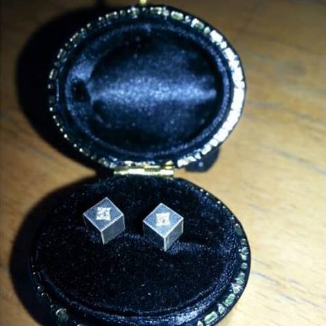 Emily Bedford Sterling Silver Studs with Diamond Stones RRP £140 Image
