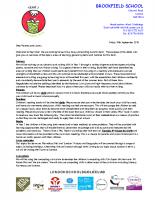 Curriculum letter Autumn 2018 Y1