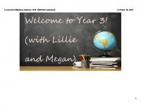 Y3 Curriculum Meeting Autumn 2018 19092018