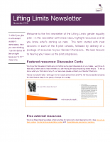 Lifting Limits Newsletter