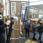 Charlotte Wells filming
