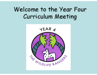 Curriculum presentation Autumn 2018-19 Y4