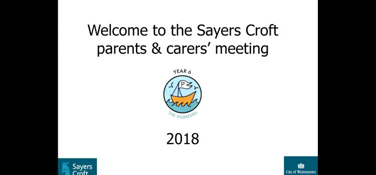 Sayers Croft presentation 2018