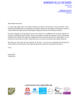 Roof closure letter