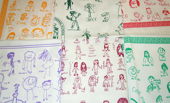 School tea towels – how to order
