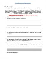 Forest School Parent Feedback Form
