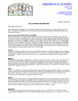Y1 Curriculum letter – Spring 2020