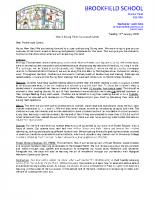 Y3 Curriculum Letter – Spring 2020