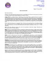 Y4 curriculum letter – Spring 2020