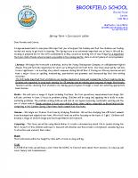 Y6 Curriculum letter – Spring 2020