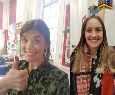 Gemma and Carla to allow 2 children to do their hair and make up for the day