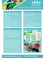 FFS Activity Camp Parent Guide – Brookfield Primary School