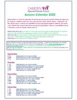 SPF Calendar Autumn 2020